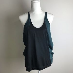 Kaitlyn - Teal and Black muscle tank